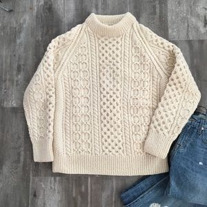 Vintage🍀Sheila Handknits Irish Fishermen Sweater